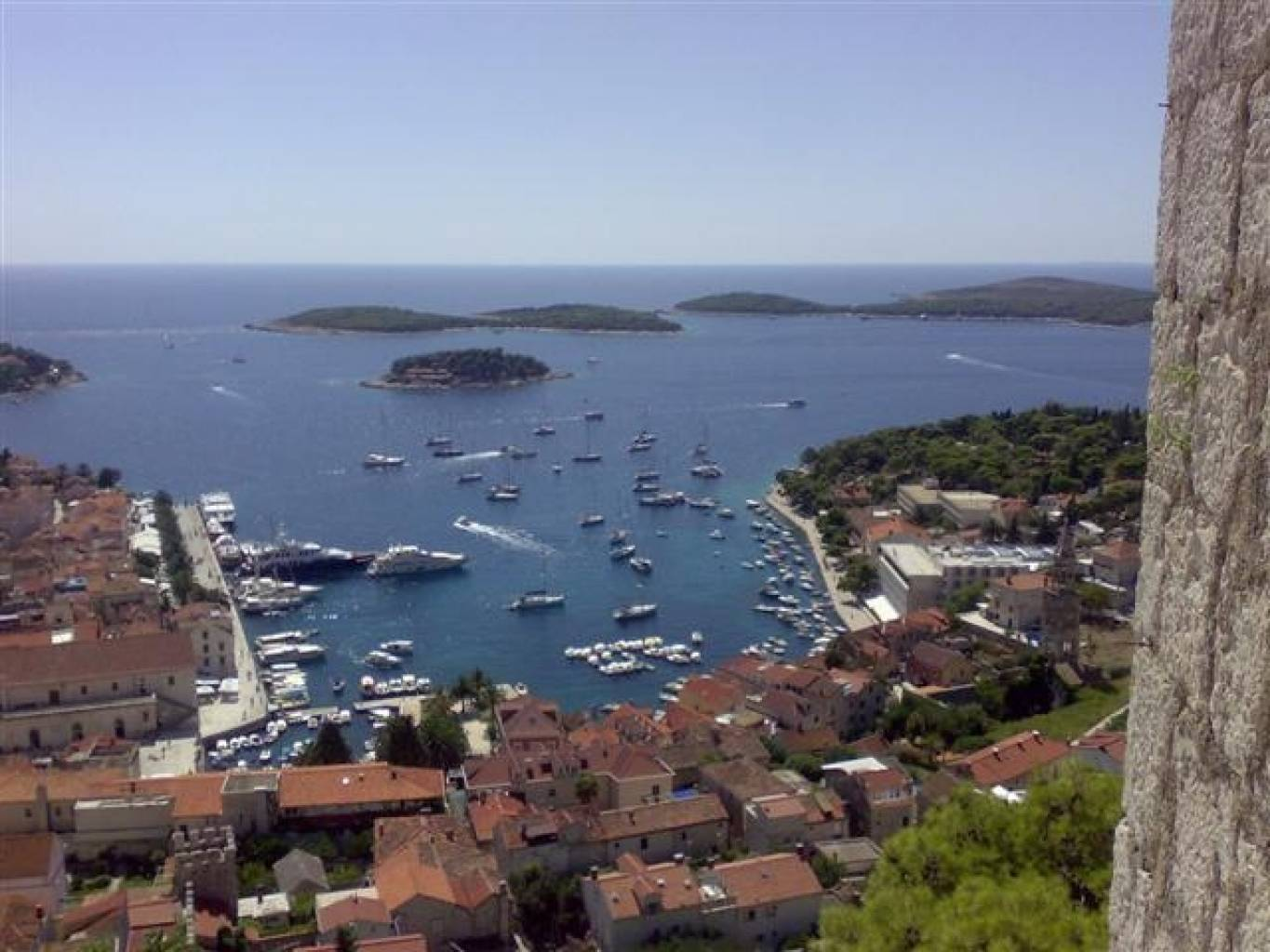 The view from the fortress above Hvar town