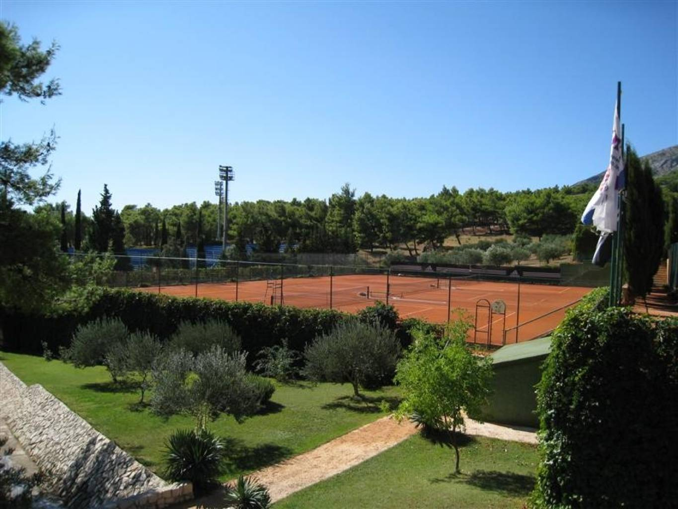 Some of the clay tennis courts
